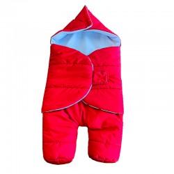 Зимен чувал за бебе с крачета червен