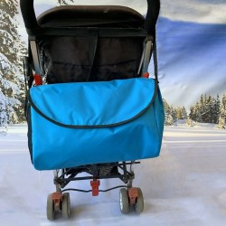 Чанта за бебешка количка с промазка , светло синя