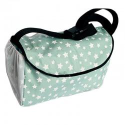 Чанта за бебешка количка , мента звезда