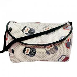 Чанта за бебешка количка , сиви бухали