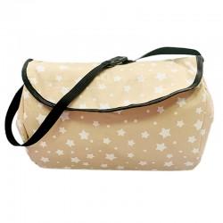 Чанта за бебешка количка , бежави звезди