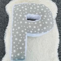 Възглавница-буква Р- сиви звезди