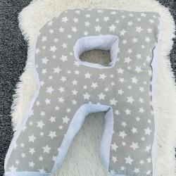 Възглавница-буква Я- сиви звезди