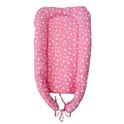 Преносимо легло розови звезди
