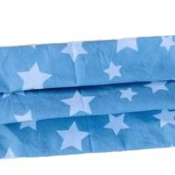 Маска за възрастни Светло сини звезди