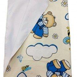 Одеяло мечета с пчели с бял полар