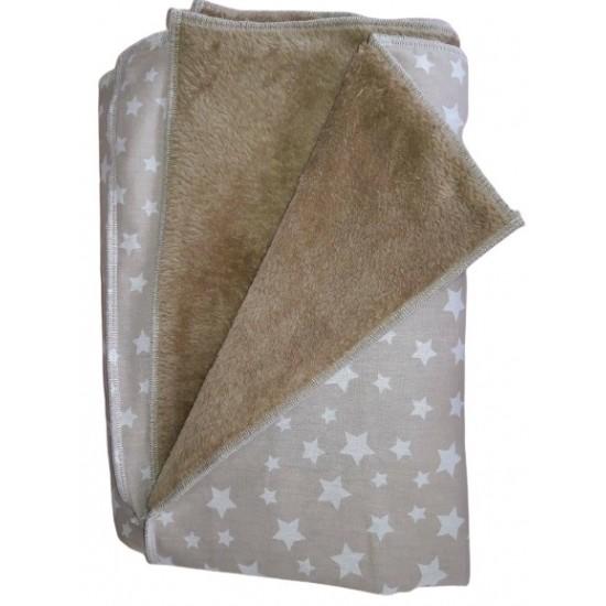 Одеяло бежови звезди с кафява кохавлия