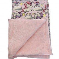 Одеяло еднорог с розова кохавлия