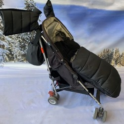 Зимен комплект за количка, черен