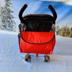 Зимен комплект за количка, червен