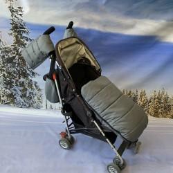 Зимен комплект за количка, сив