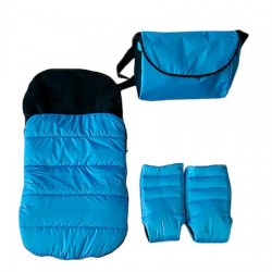 Зимен комплект за количка, светло синьо