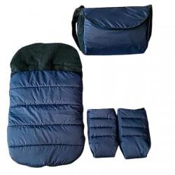 Зимен комплект за количка, тъмно синьо