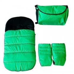 Зимен комплект за количка, зелен