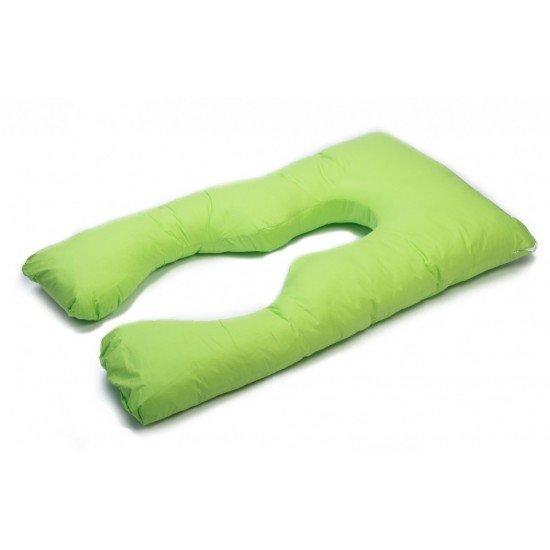 Възглавница за бременни у -образна зелена