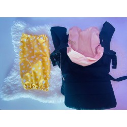 Чанта за раница и слинг, жълти звезди