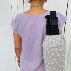 Чанта за раница и слинг, сиви звезди