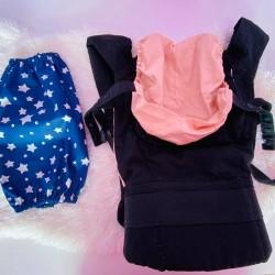 Чанта за раница и слинг, тъмно сини звезди