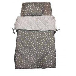 Спален комплект с цип Сиви Звезди