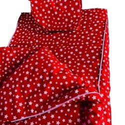 Спален комплект с цип Червени Звезди