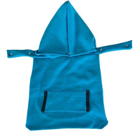 Есенно покривало за раница син цвят