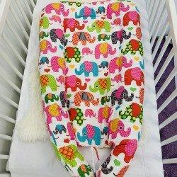 Преносимо легло шарени слончета