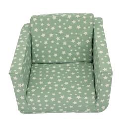 Кресло за дете разтегливо мента звезди