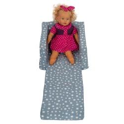 Кресло за дете разтегливо светло сини звезди