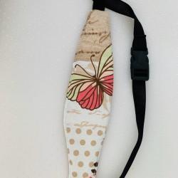 Предпазна лента-ластик за глава - пеперуди