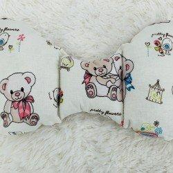 Възглавница за бебе пеперуда, Бежови мечета