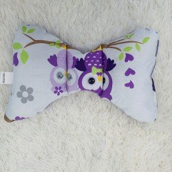 Възглавница за бебе пеперуда, Лилави бухали