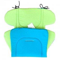 Постелка за количка синя- зелена