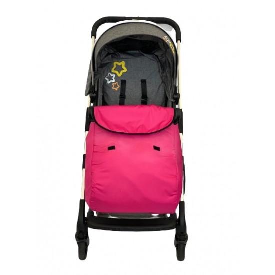 Универсално покривало за крачета за бебешка количка, розово