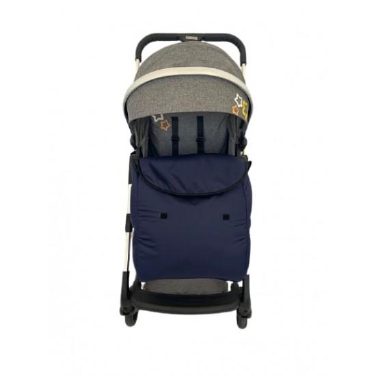 Универсално покривало за крачета за бебешка количка, тъмно синьо
