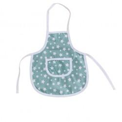 Детска готварска престилка Мента звезди
