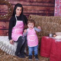 Комплект престилки за готвене Розови звезди