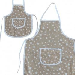 Комплект престилки за готвене Бежови звезди