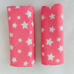 Протектори за колани - розови звезди