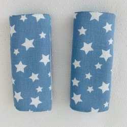 Протектори за колани - светло сини звезди