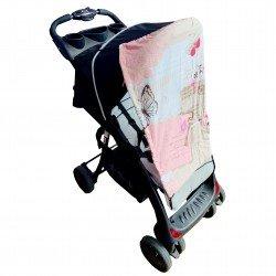 Тента за бебешка количка пеперуди
