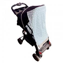 Тента за бебешка количка мента  звезди