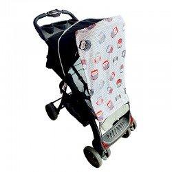 Тента за бебешка количка сиви бухали