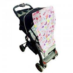 Тента за бебешка количка замък