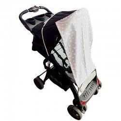 Тента за бебешка количка сиви  звезди