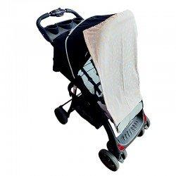Тента за бебешка количка бежови  звезди